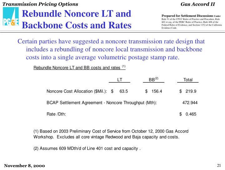 Rebundle Noncore LT and