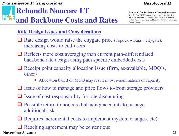Rebundle Noncore LT