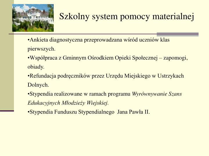 Szkolny system pomocy materialnej