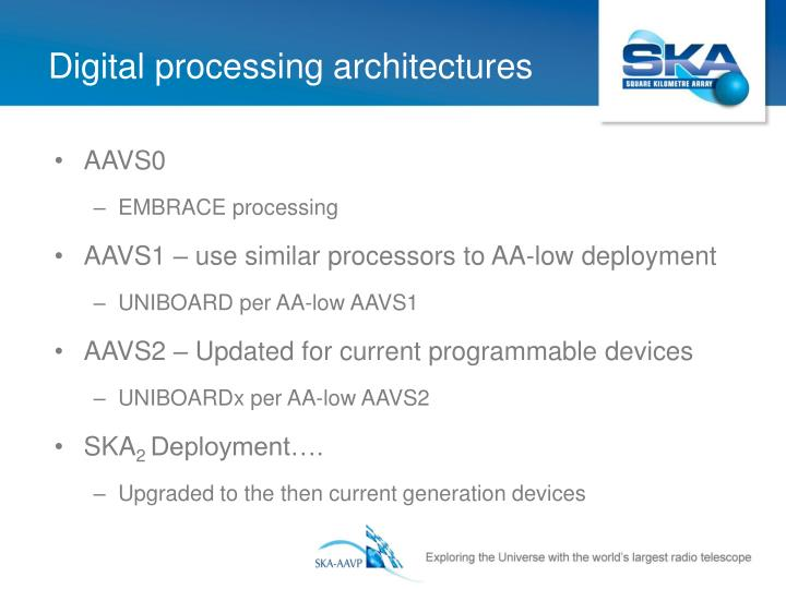 Digital processing architectures
