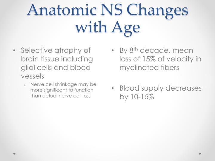 Anatomic NS Changes with Age
