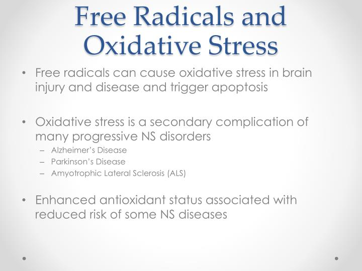 Free Radicals and Oxidative Stress