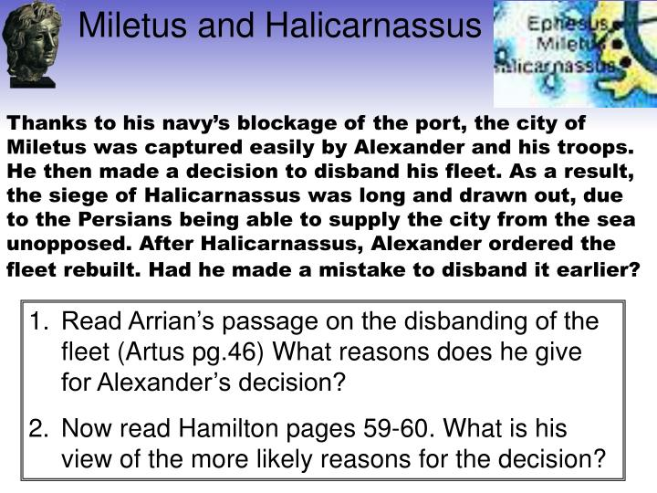 Miletus and Halicarnassus