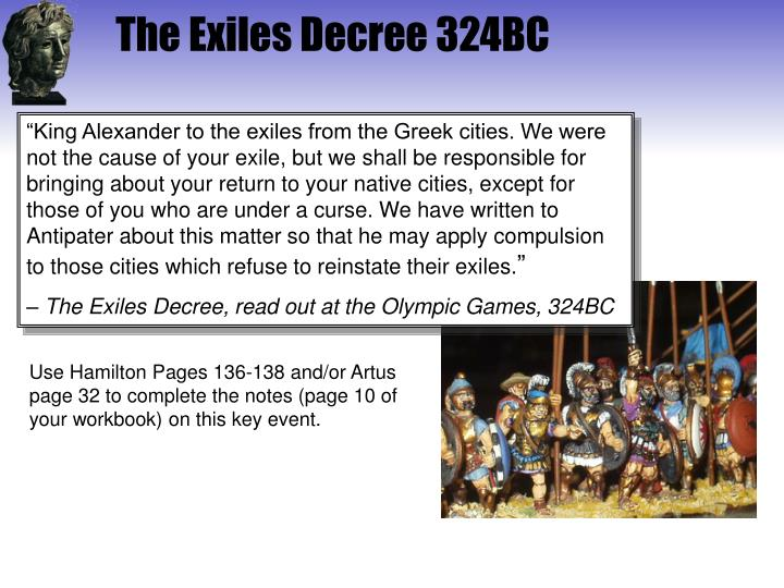 The Exiles Decree 324BC