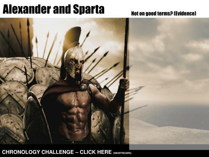 Alexander and Sparta