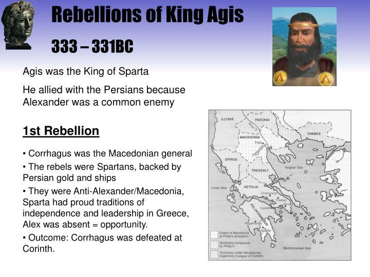 Rebellions of King Agis