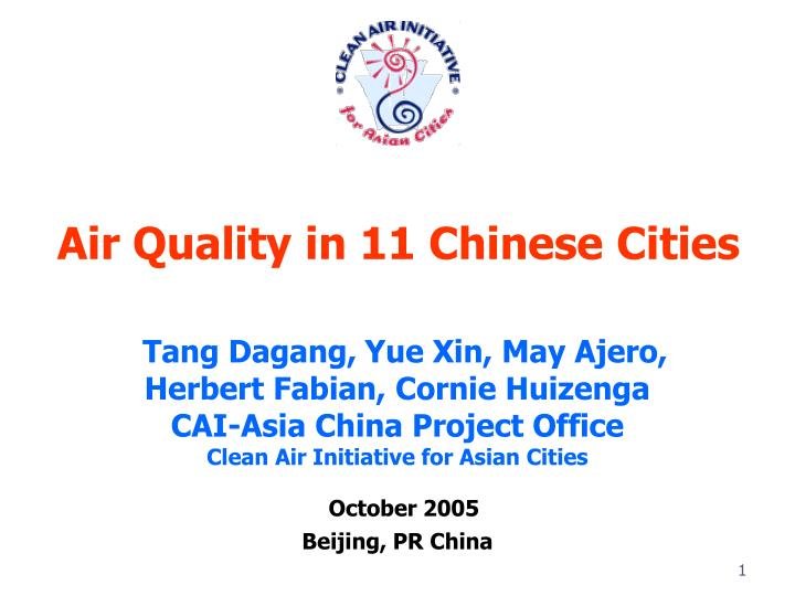 Air quality in 11 chinese cities