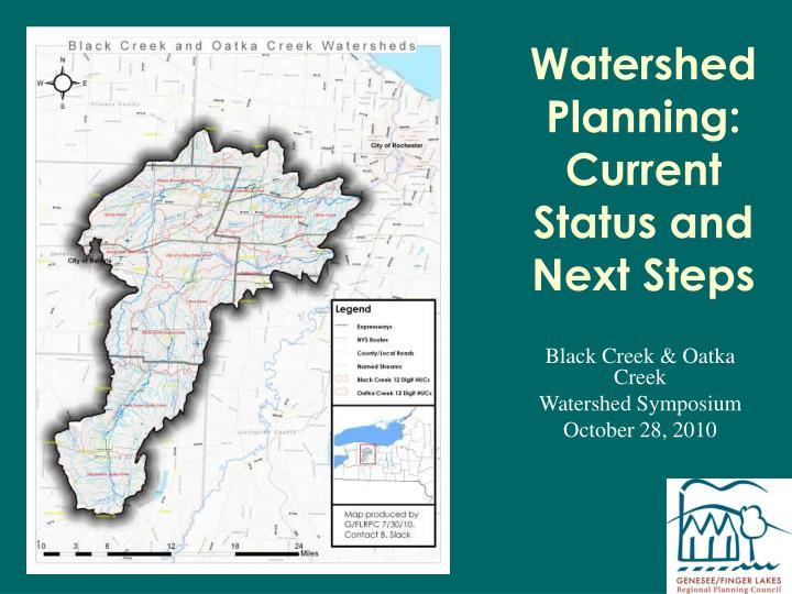 Watershed planning current status and next steps