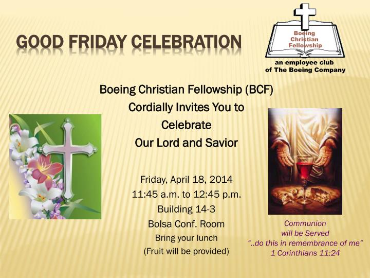 Good friday celebration