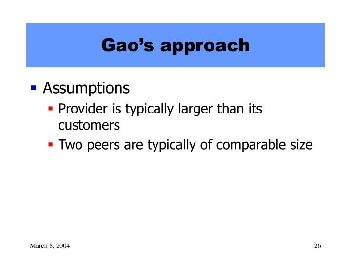 Gao's approach