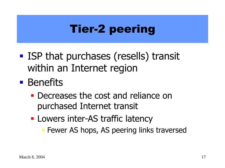 Tier-2 peering