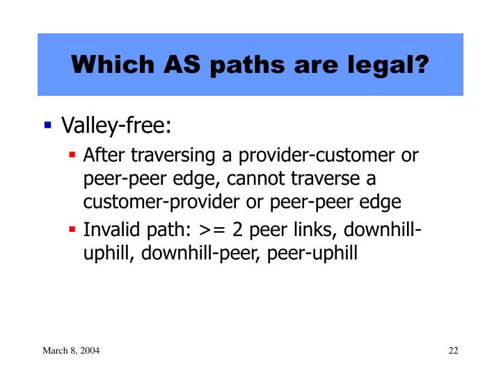 Which AS paths are legal?