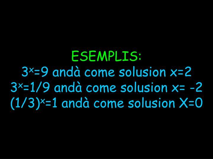 ESEMPLIS: