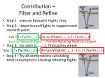 contribution filter and refine