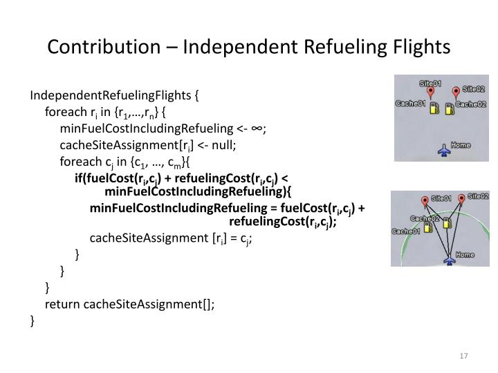 Contribution – Independent Refueling Flights