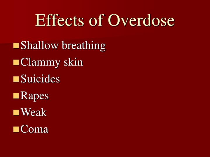 Effects of Overdose