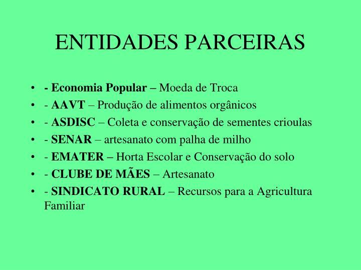 ENTIDADES PARCEIRAS