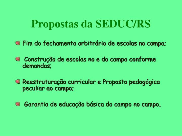 Propostas da SEDUC/RS