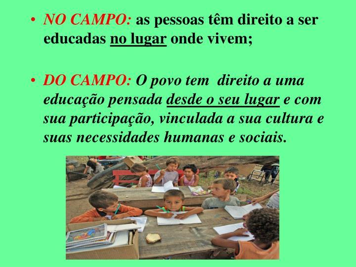 NO CAMPO: