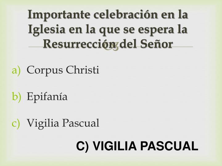Importante celebración en la Iglesia en la que se espera la Resurrección del Señor