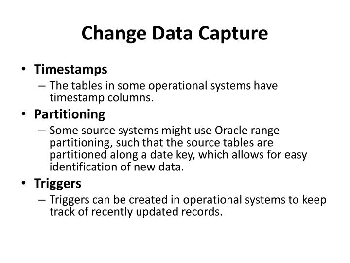Change Data Capture