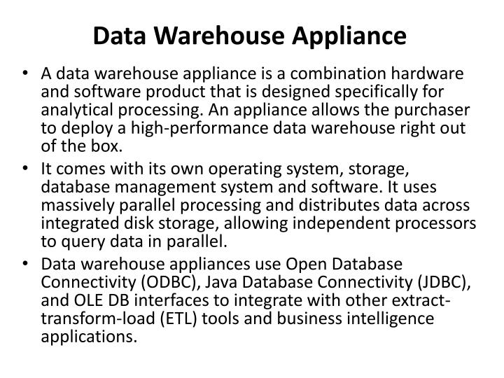 Data Warehouse Appliance