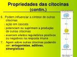 propriedades das citocinas contin1