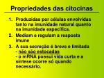propriedades das citocinas