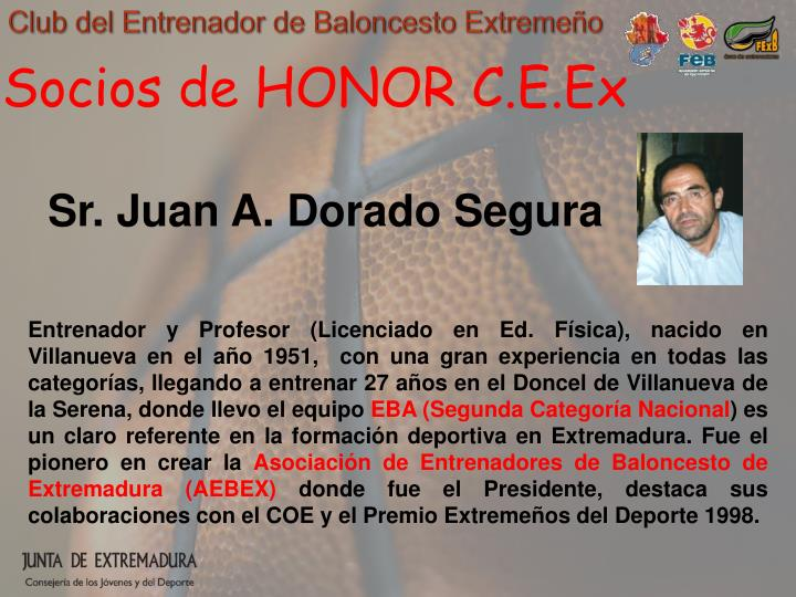 Socios de HONOR C.E.Ex