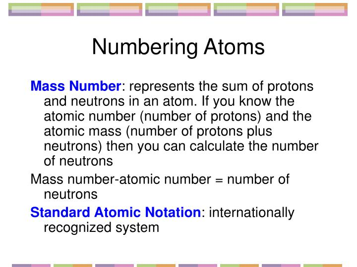 Numbering Atoms