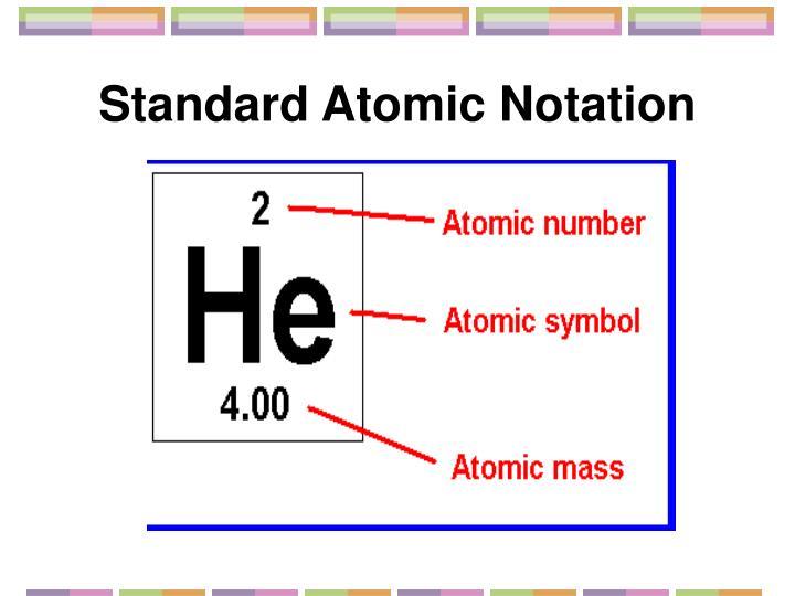 Standard Atomic Notation