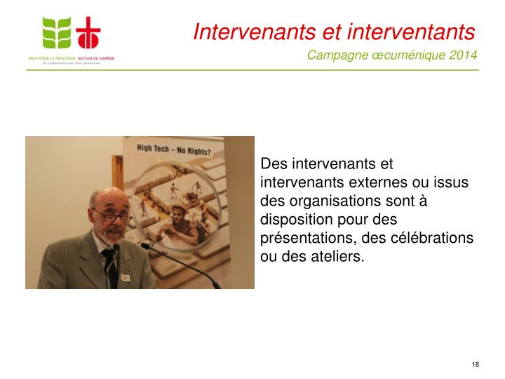 Intervenants et interventants