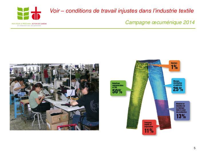 Voir – conditions de travail injustes dans l'industrie textile