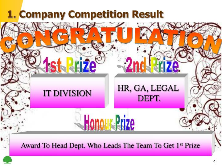 1. Company Competition Result