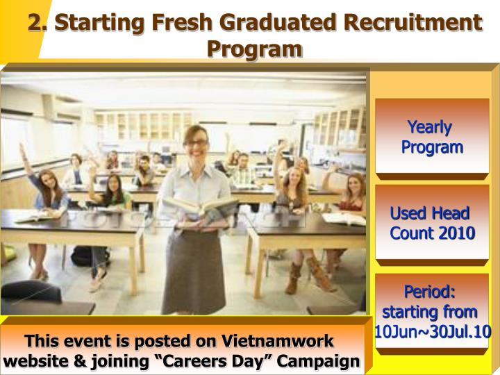 2. Starting Fresh Graduated Recruitment Program