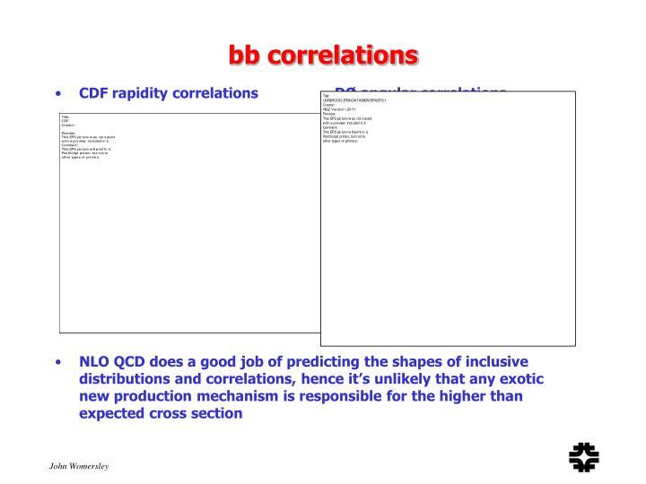bb correlations