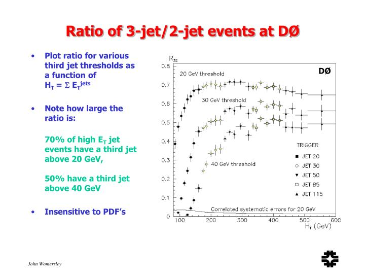 Ratio of 3-jet/2-jet events at DØ