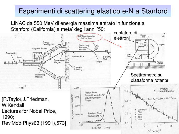 Esperimenti di scattering elastico e-N a Stanford