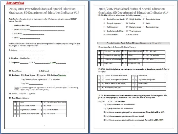 See handout