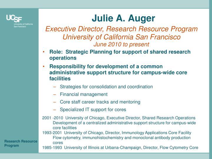 Julie A. Auger