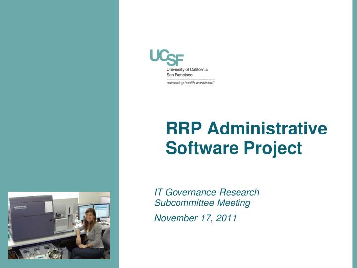 RRP Administrative Software Project