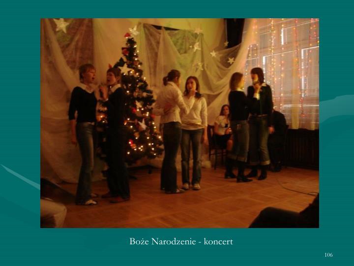 Boże Narodzenie - koncert