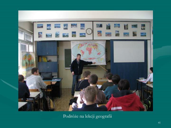 Podróże na lekcji geografii