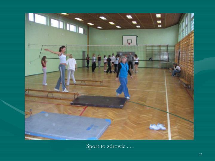 Sport to zdrowie . . .