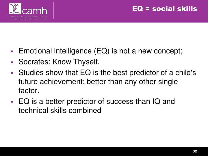 EQ = social skills