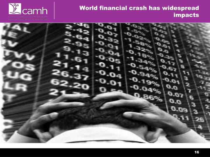World financial crash has widespread impacts