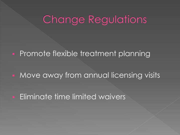 Change Regulations