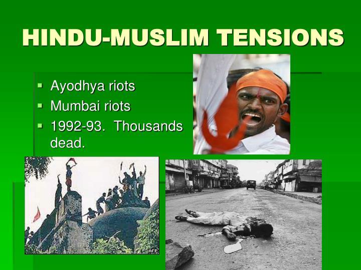 HINDU-MUSLIM TENSIONS
