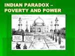 indian paradox poverty and power