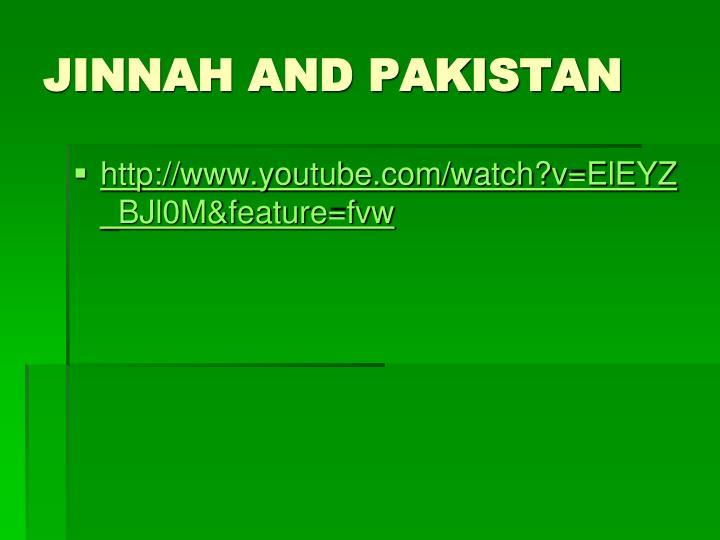 JINNAH AND PAKISTAN
